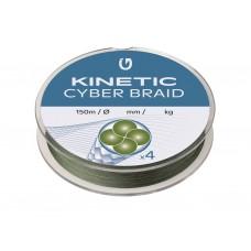Kinetic Cyber Braid 4 Strand Dark Green - 150m
