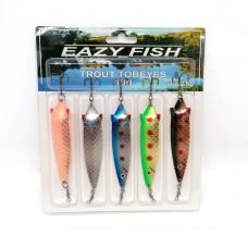 Dennett Eazy Fish 5 Pack Tobeye spoon