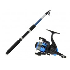 Angling Pursuits Trekker Telescopic Spinning Rod and reel combo