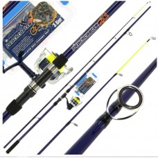 Angling Pursuits Beachcaster rod and reel combo plus tackle