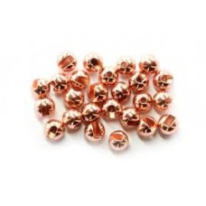 Slotted tungsten beads - copper 2.4mm