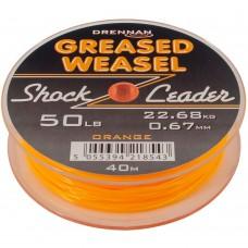 Drennan Greased Weasel Shock Leader 50lb