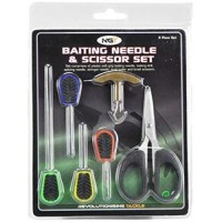 NGT baiting needle and braid scissors set