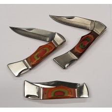 Pakkawood folding pocket knife