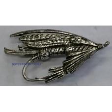 Pewter pin - Fishing fly