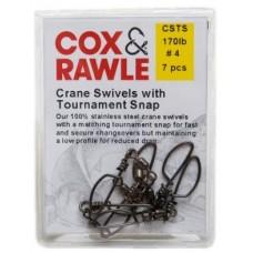Cox & Rawle S/Steel Crane Swivel with Tournament Snap