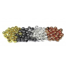 Tungsten slotted beads - black 2.8mm