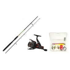 Angling Pursuits combo - starter spinning kit for freshwater fishing